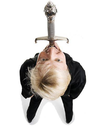 Sword Swallower Dan Meyer based in Muncie, Indiana