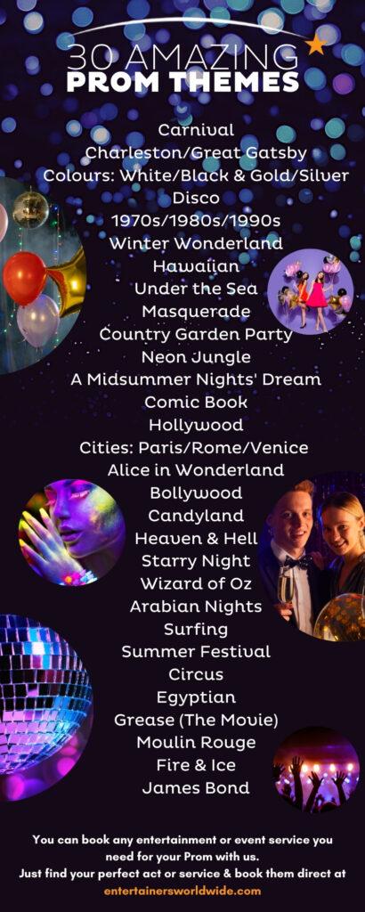 prom themes ideas