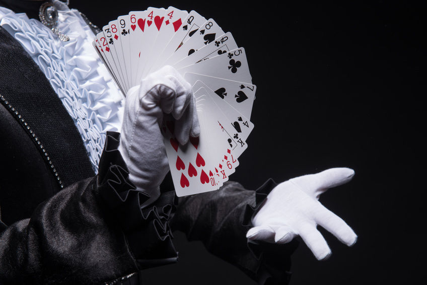 close up magic trick with cards