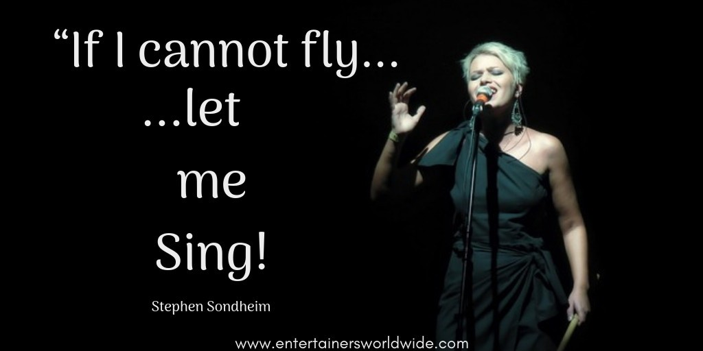 If I cannot fly let me sing