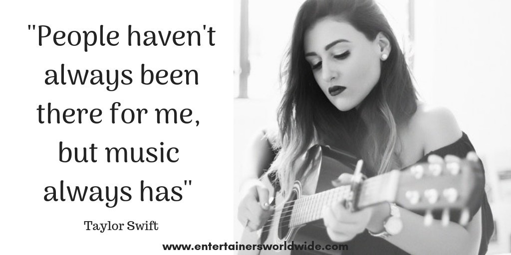 Inspirational quote singers Taylor Swift