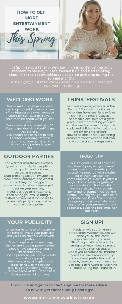 infographic spring bookings entertainers