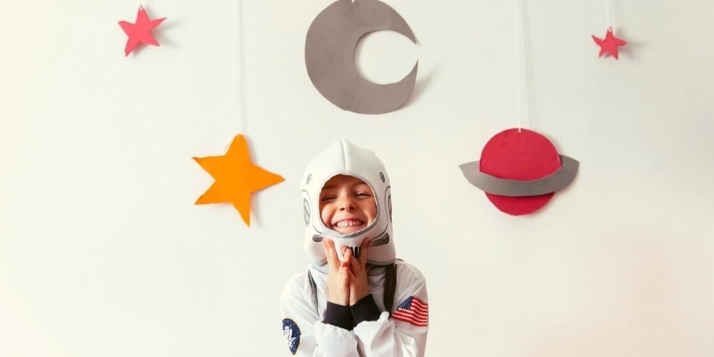space, party, kids