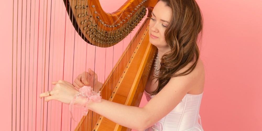 harpist, wedding, hire