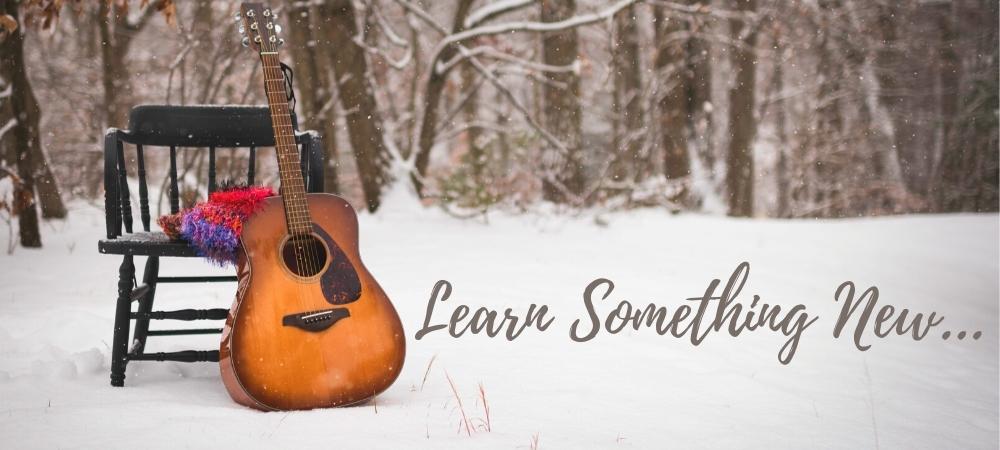 learn, music, guitar, winter