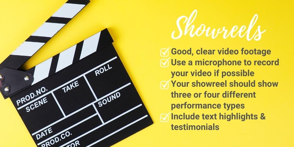 promo, promotional, video, showreel, singers, dancers, musicians, entertainers, magicians