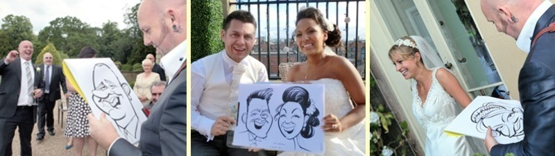 caricaturist for a wedding