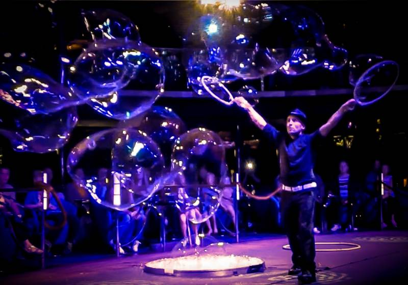 bubble performers for corporate events