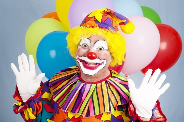 clown booked for children's birthday party