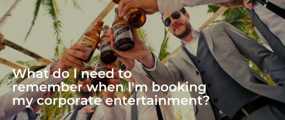 How do I book corporate entertainnment?