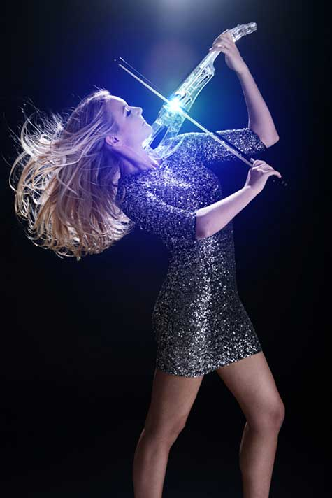 Electric LED Violin