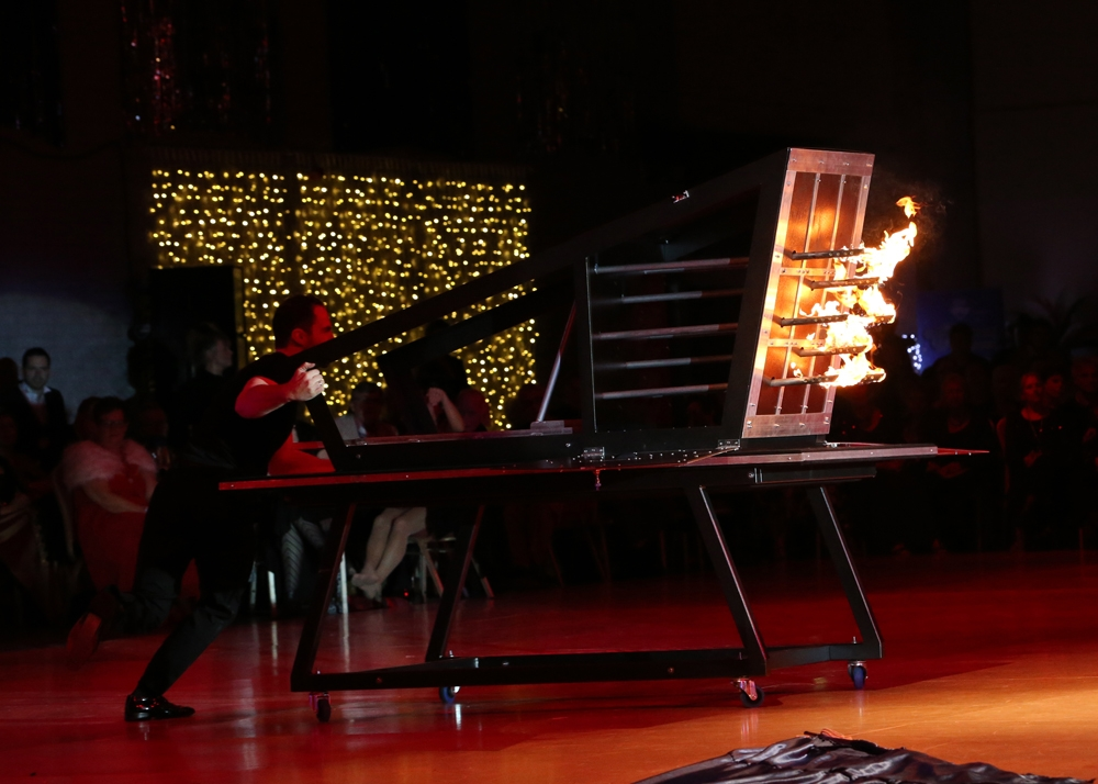 Matthew McGurk Stage Illusionist Fire Spiker Illusion at Party