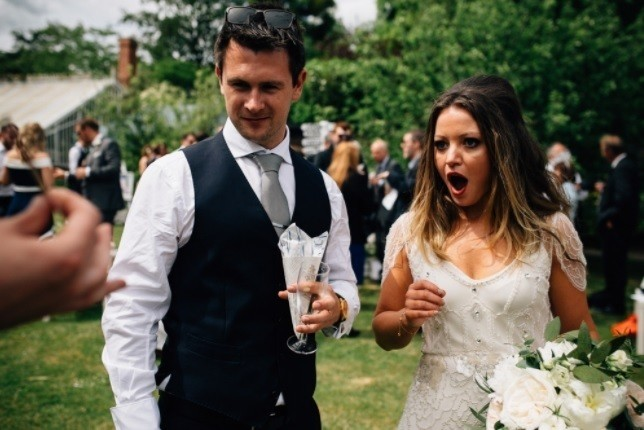Photographer captures magic moment at wedding