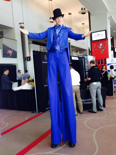 Stilt Walker for corporate event