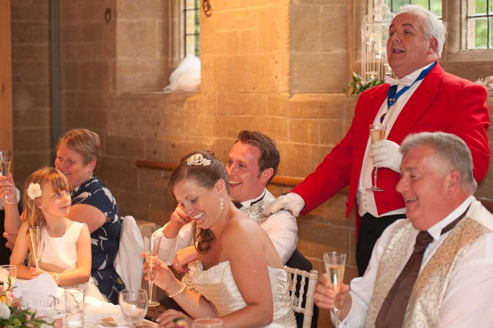 Toastmaster at a Wedding