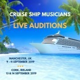 Cruise Musician Live Auditions in Manchester, UK & Cork, Ireland - September 2019- Competitive Salary image