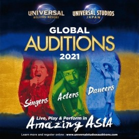 Entertainers Wanted For Universal Beijing Resort & Universal Studios - Global Auditions 2021