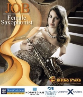 Vacancy For Female Saxophonist - 3 Month Contract 5 Star Hotels in Asia & Cruise Ships