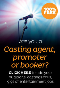 Auditions, gigs, castings, jobs