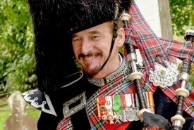 Pipe Major David Waterton-Anderson, KSG, KMM, OLJ, OMLJ. - Bagpiper Selby, Yorkshire and the Humber