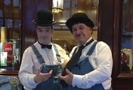 Laurel & Hardy Lookalikes Magicians - Close-up Magician Southport, North West England