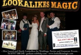 Laurel and Hardy Lookalikes - Wedding Magician Southport, North West England