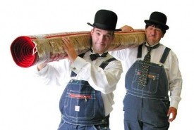 Laurel & Hardy Lookalikes Magicians - Close-up Magician Southport, North of England