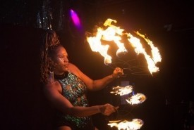 Blue Flame Flow Artist - Fire Performer