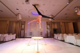 Hand balance, Straps and fire show - Aerialist / Acrobat