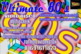 ULTIMATE 80's VIDEO DISCO - Party DJ Shropshire, Midlands