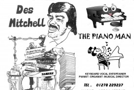 DES MITCHELL - Pianist / Keyboardist weston super mare, South West