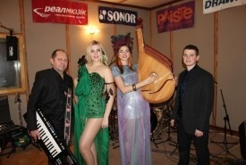 2 -  4  piece band            ( 2 female singers + 2 male) - Function / Party Band Ukraine