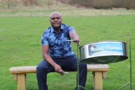 Melodic panman steel drum player  - One Man Band Alston Sutton, South West