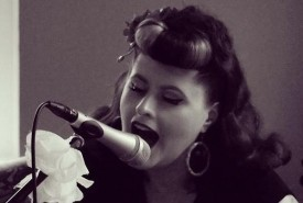 Melissa Gill as seen on The Voice UK - Wedding Singer