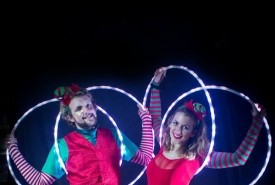Lisa and Callum - Hula Hoop Performer Bristol, South West