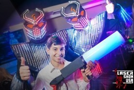 LED ROBOTS CO2, LASER SHOW, MIRROR SHOW - Costumed Character