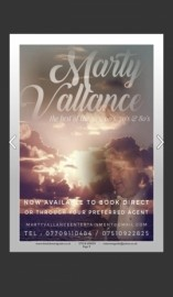 Marty Vallance  - Male Singer - Wakefield, Yorkshire and the Humber