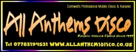 All Anthems Disco and Karaoke Cornwall image