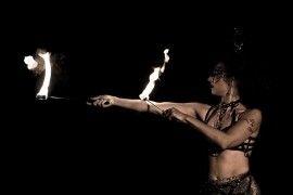 Irie Feather Fire show - Fire Performer - Hackney, London