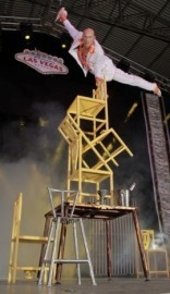 Chairs balancing act - Circus Performer - Las Vegas, Nevada