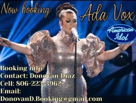 Ada Vox American Idol Finalist - Female Singer - San Antonio, Texas