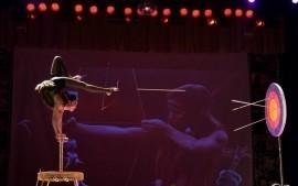 Foot archery performance, Contortion, Aerial hoop, Aerial silk - Contortionist - Ufa, Russian Federation