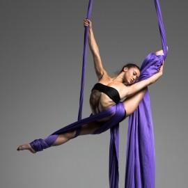 Elegant and dynamic Silks performance - Aerialist / Acrobat - Miami, Florida