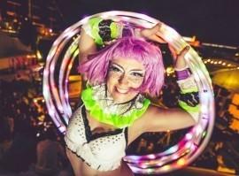 Mitra Hoop - Hula Hoop Performer - Ibiza, Spain