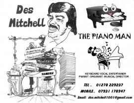 DES MITCHELL - Pianist / Keyboardist - Burnham On Sea, South West