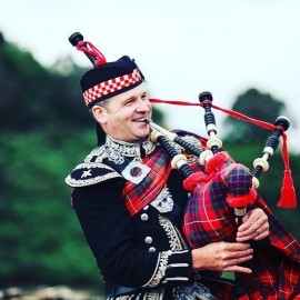 Spud the Piper - Bagpiper - Aviemore, Scotland