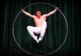 Solo Cyr Wheel, Duo Statue, Duo Aerial silk - Cyr Wheel Act - Ukraine/ Reni, Ukraine