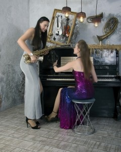 Cherry'n'Mary - music duet - female saxophonist & female singer pianist. - Duo
