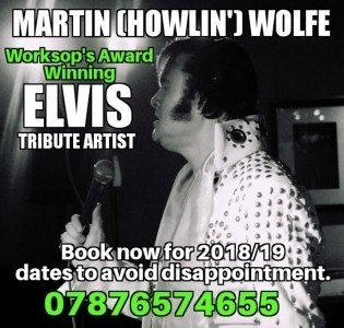 Martin (Howlin') Wolfe - Elvis Tribute Act
