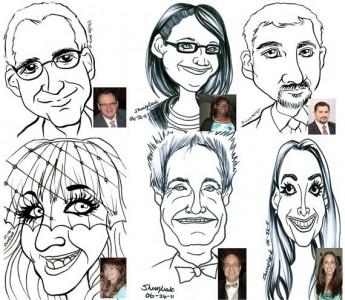 Trade Show Event Caricatures - Caricaturist